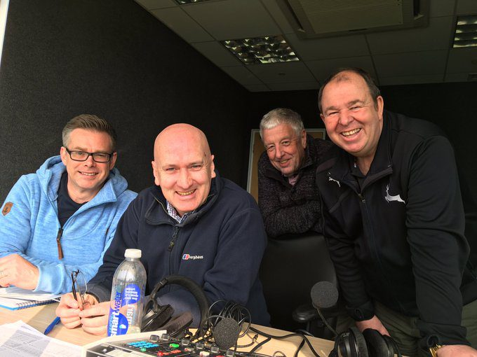 jonathan didge at trent bridge with BBC commentary team