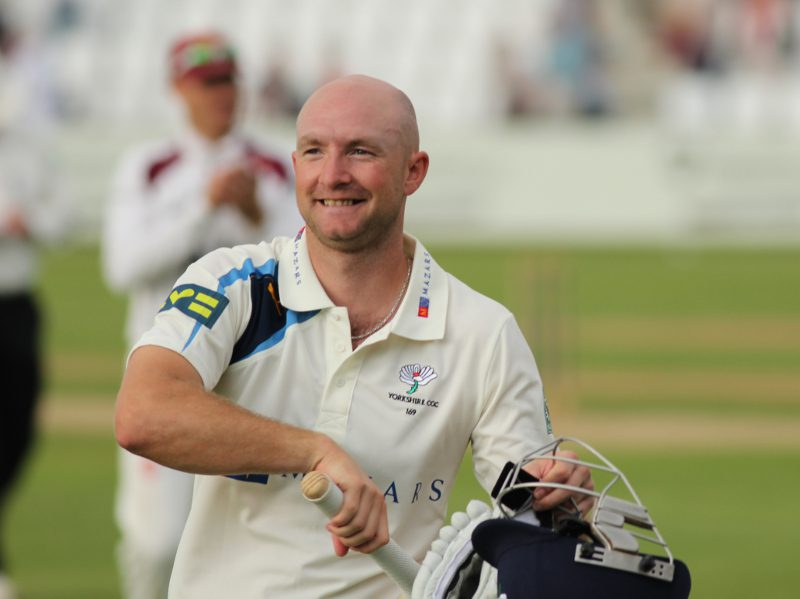 adam lyth walks off after his double-hundred at northampton