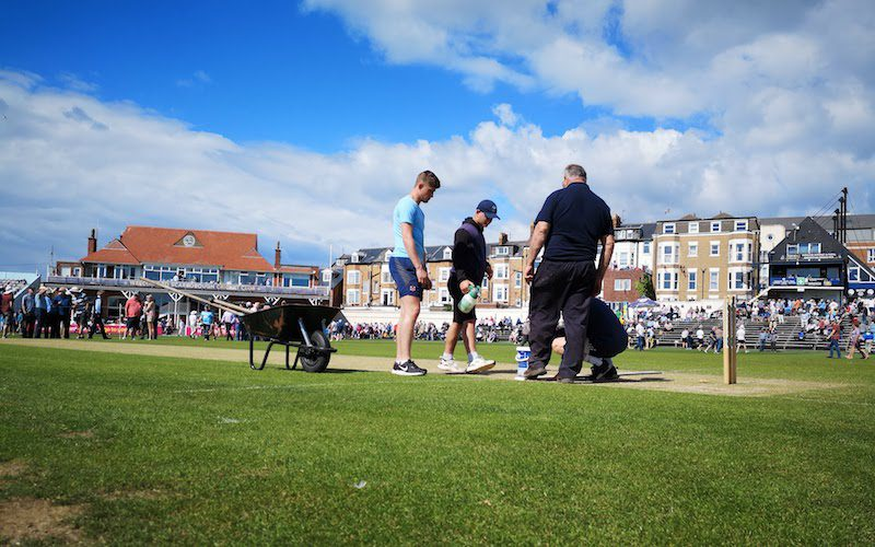 scarborough cricket club pitch inspection