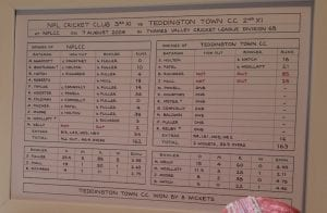 scorecard for club cricket